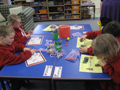 Children working on their maths