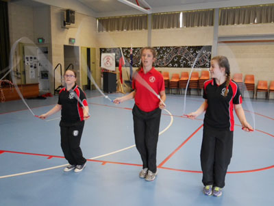Girls skipping as part of the Skipping Team 'Chapman Champs