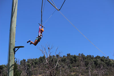 Girl on high Ropes