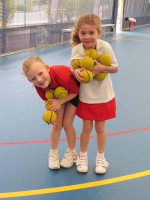 Children with Tennis Balls